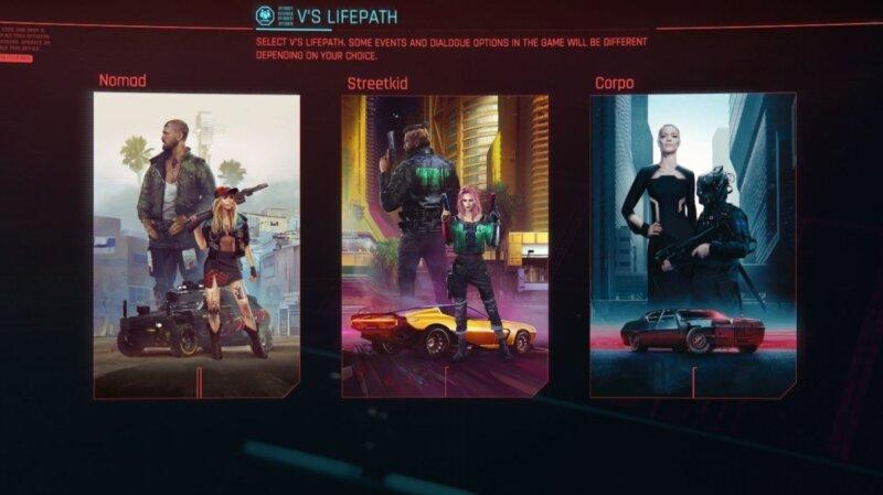 Cyberpunk 2077 Life Paths