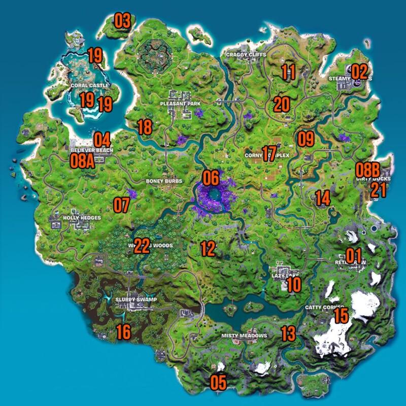Fortnite Characters locations