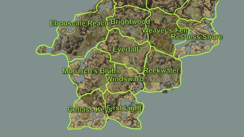 starting zones in New World